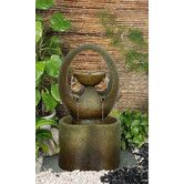 Found it at Wayfair - Abrazo Outdoor Resin Tiered Fountain