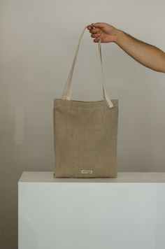 Simple Tote made from Hemp - the environmental super fibre. Waterproof, Vegan, Made in Slovakia, PAKTA STUDIO Rope Tying, Top Soil, Handmade Bags, Hemp, Reusable Tote Bags, Vegan, Studio, Simple, Handmade Purses