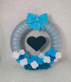Blue Wreath Door Wreath Baby Boy Nursery by ForeverYoursHandmade