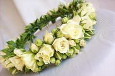 Flowers In Hair, Wedding Flowers, Floral Headdress, First Communion, Wedding Vows, Wedding Trends, Flower Power, Flower Arrangements, Wedding Hairstyles