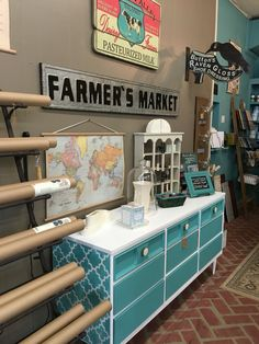 Create a fun surprise on your pieces: inside drawers, on side panels or even the top! Make your piece fit your personality! Chalk Paint® decorative paint by Annie Sloan is easy to use and so much fun!!! www.twooldbirds.com #twooldbirds #apex #custommix #purewhite #chalkpaint #anniesloanstockisf