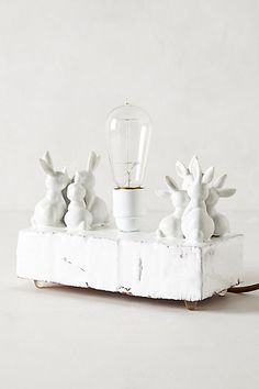 Bunny Love Light #anthropologie One of a kind night lamp for kids' room