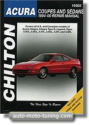 Revue technique Acura Coupé et Sedan, Integra, Integra type R, Legend, Vigor, 2.2 CL, 2.3 CL, 2.5 TL, 3.0 CL, 3.2 TL et 3.5 RL de 1994 à 2000.