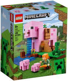 La passion des joueurs de Minecraft pour leur jeu en ligne favori prend une nouvelle dimension avec le modèle LEGO Minecraft La Maison Cochon (21170). Ce set de jeu Minecraft réaliste offre toute la fantaisie, la créativité et l'aventure du jeu en ligne, associées au caractère physique et à la polyvalence des jouets de construction LEGO. Lego Minecraft, Video Minecraft, Minecraft Gifts, Minecraft Jungle House, Minecraft Redstone, Minecraft Funny, Minecraft Tutorial, Minecraft Blueprints, Minecraft Projects