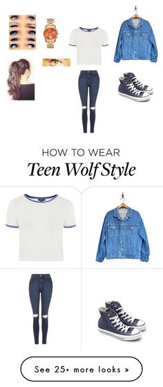 """Untitled #31"" by bubbletea190 on Polyvore featuring L.L.Bean, Topshop and Converse"