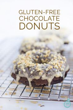 Gluten-Free Chocolate Donuts with an Espresso Glaze | Simply Quinoa