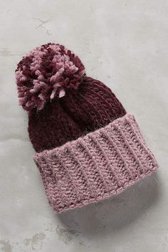 598e8df0bce Colorblock Pom Hat - anthropologie.com Winter Hats