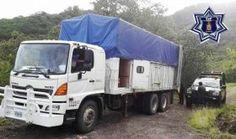 Atiende policía estatal llamado de auxilio, recupera camión robado en Totolapan