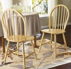 Dining Chairs Set Wood Breakfast Furniture Indoor Vintage Room Kitchen Sturdy #DiningChairsSet #Traditional