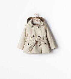 ZARA - KIDS - TRENCHCOAT WITH CHECK LINING AND DETACHABLE HOOD