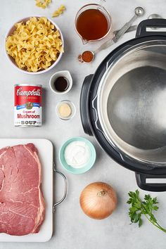 Try our delicious beef stroganoff recipe made easy in an Instant Pot®. This beef dinner recipe uses Campbell's Cream of Mushroom Soup, paprika, and sour cream. Best Instant Pot Recipe, Instant Recipes, Instant Pot Dinner Recipes, Instant Pot Pressure Cooker, Pressure Cooker Recipes, Slow Cooker, Pressure Cooking, Pressure Pot, Crockpot Recipes