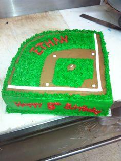 Baseball birthday cake!