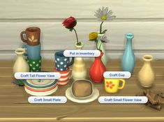Craftable Pottery for: The Sims 4 by I am not the original creator of this mod. The original version of this mod was by plasticbox, who is now inactive. So I have just updated. Mods Sims, Sims 4 Game Mods, Sims Games, Sims 4 Mods Clothes, Maxis, Sims Four, Sims 4 Mm Cc, Sims 4 Skills, Sims 4 Traits