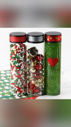 Sensory Bottles Preschool, Glitter Sensory Bottles, Glitter Jars, Sensory Activities, Sensory Play, Sensory Bags, Classroom Activities, Christmas Activities, Christmas Themes