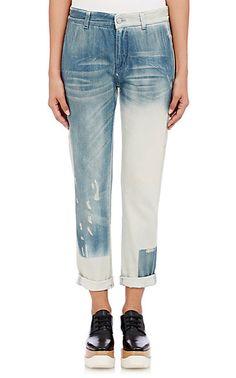 Stella McCartney Boyfriend Distressed Jeans - Cropped - Barneys.com