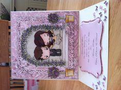 Handmade wedding card by Gail Wolfe