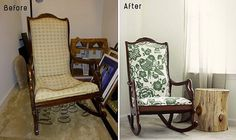 Furniture Ideas , Reupholster a Chair – Before and After : Reupholster A Chair Melissa Before After Chair