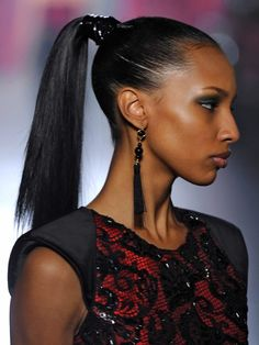 Wrapped Ponytails  Runway to Real life: Fall and Winter's Best Beauty Trends to Steal #beautytips #makeup #runway #styleinspiration