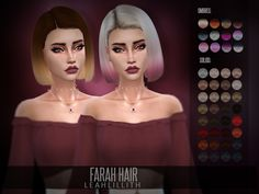 Farah Hair Found in TSR Category 'Sims 4 Female Hairstyles'