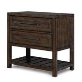 Found it at Wayfair - Eastlake 2 Drawer Nightstand $439  don't know about full extension