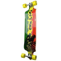 Punked Rasta 2 Drop Down Longboard Complete #longboard #rasta #onelove