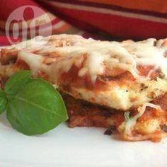 Tofu parmigiana 9/10 servi avec pâtes aux pesto et légumes J'ai utilisé l'excellente sauce marinara du Costco