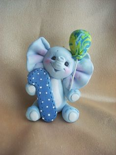 elephant cake topper Christmas ornament by clayqts on Etsy, $25.95