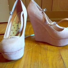 Pink wedges Light pink size 8 wedges, worn less than an handful times,comfy! Shoes