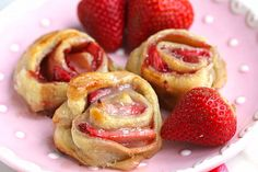 lazy strawberry cinnamon rolls