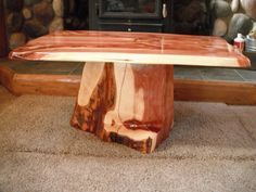 Red Cedar Coffee Table. $300.00, via Etsy.