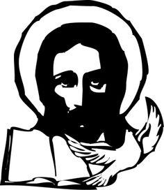Jesus mit Biebel und Taube