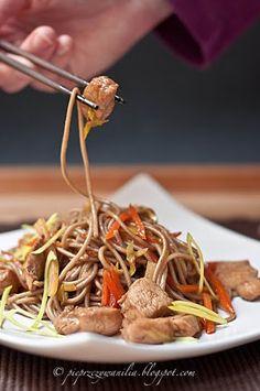 pieprz czy wanilia fotografia i kulinaria: Soba. Kurczak.Warzywa.