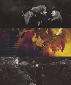 Lily and James, Harry and Ginny, Ron and Hermione : )  The Epic Love Stories