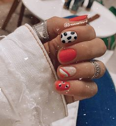 Crazy Nails, Dope Nails, Fun Nails, Basic Nails, Simple Nails, Cute Acrylic Nails, Acrylic Nail Designs, Western Nails, Minimalist Nails