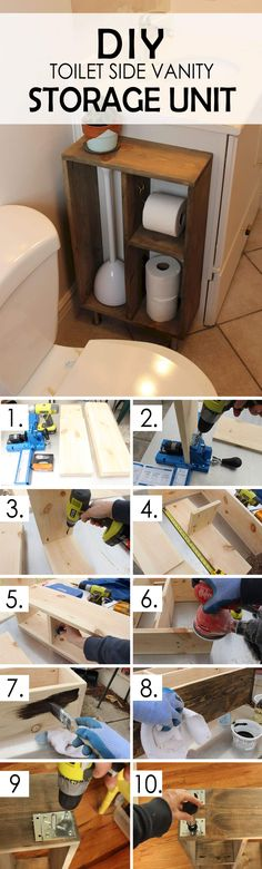 Toilet Side Vanity Storage Unit