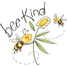 Just Be(e) Buddhism ☸️ Bee Kind Bee Quotes, Bee Pictures, Buzz Bee, I Love Bees, Bee Party, Bee Crafts, Illustration, Save The Bees, Bees Knees