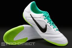 Nike Football Boots - Nike5 Elastico Pro - Indoor - Soccer Cleats - White-Black-Atomic Teal-Electric Green
