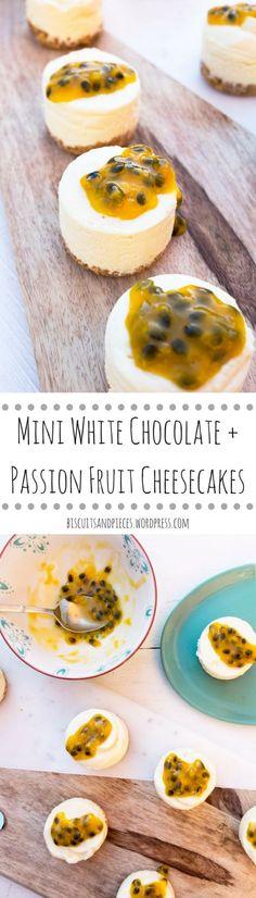 Easy, no bake, white chocolate & passion fruit cheesecake recipe