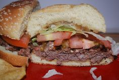 Gourmet Rooster bacon burger