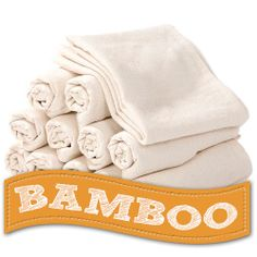 Bamboo Flat Diapers - Diaper Rite Flats - Diaper Junction 12 pack