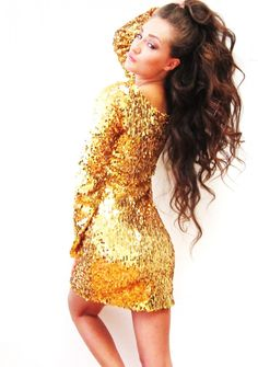 shop kami shade' - plus size midnight black long sleeve sequin