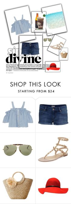 Walk on the Beach by stylookfashion on Polyvore featuring moda, Steve J & Yoni P, Valentino and Ray-Ban