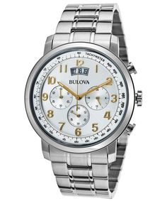 elevated classics dress expansion band watch picvpic com men s dress chronograph stainless steel silver tone dial