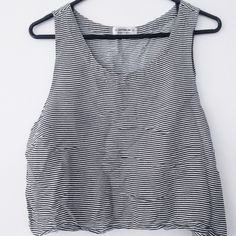Loose Thin Striped Tank Pre-Loved. The wrinkles shown in the photo can be taken out with a steamer. Tag size Large, but can fit Medium. Feel free to ask for measurements! I DO NOT TRADE. NEGOTIATIONS MUST BE THROUGH THE OFFER BUTTON. Comments asking to trade or negotiation through comments will be ignored Cotton On Tops Tank Tops