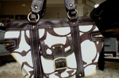 Signature exterior with signature interior lining common in many fakes. Coach Handbags, Coach Bags, Coach Sneakers, Colorful Interiors, Shop, Accessories, Coach Purse, Coach Purses, Store