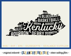 Svg Kentucky Svg Kentucky State Svg Shirt Design Basketball Derby Bourbon Svg Dxf Png Cricut Silhouette Commercial Clean Cutting Files Papercraft Card Making Stationery