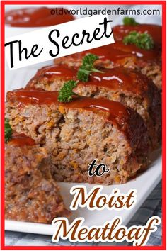 Moist Meatloaf Recipe With Oatmeal.Turkey Meatloaf Recipe I Heart Recipes. Moist Meatloaf Every Time Recipe Meatloaf Recipes . Home and Family Juicy Meatloaf Recipe, Moist Meatloaf Recipes, Classic Meatloaf Recipe, Beef Casserole Recipes, Soup Recipes, Dinner Recipes, How To Cook Meatloaf, Best Meatloaf, Hamburger Meat Casseroles