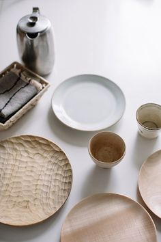 Morning coffee with pale tonal tableware   Aurelie Lecuyer