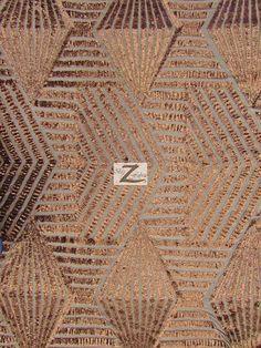 Cosmic Mini Disc Sequin Mesh Fabric  BRONZE  56/60 by BigZFabric