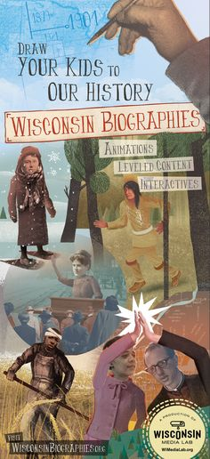 Wisconsin Biographies is a collection of media to enrich the social studies and literacy curriculum, using the stories of notable figures in...